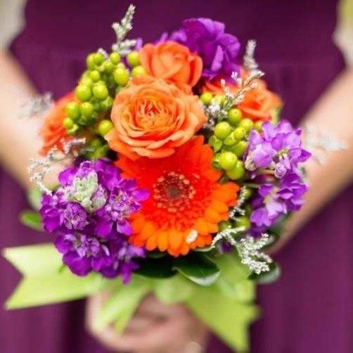 Bridesmaid Bouquet For A Fall Wedding