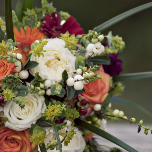 Fall Bouquet With Mixed Berries