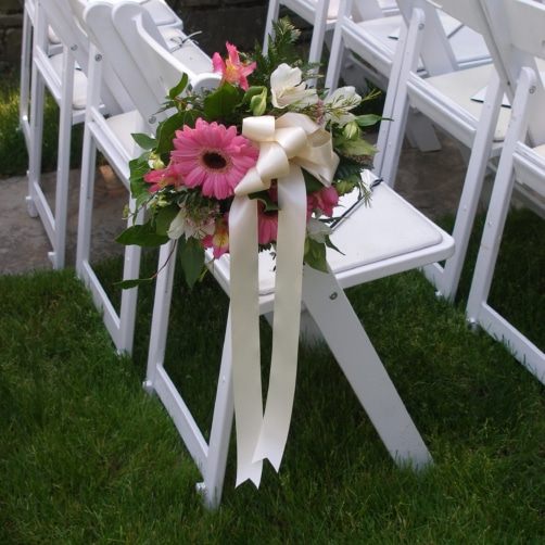 Chair Flowers At Hillbrook