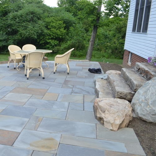 Pennsylvania Blue Stone Patio